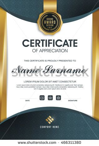 certificate template with clean and modern pattern luxury