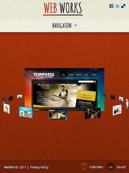 Web Works Facebook Flash Templates By Astra