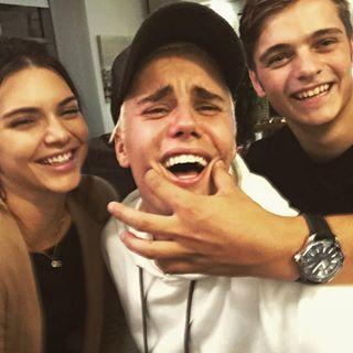 Kendall Jenner, Justin Bieber and Martin Garrix