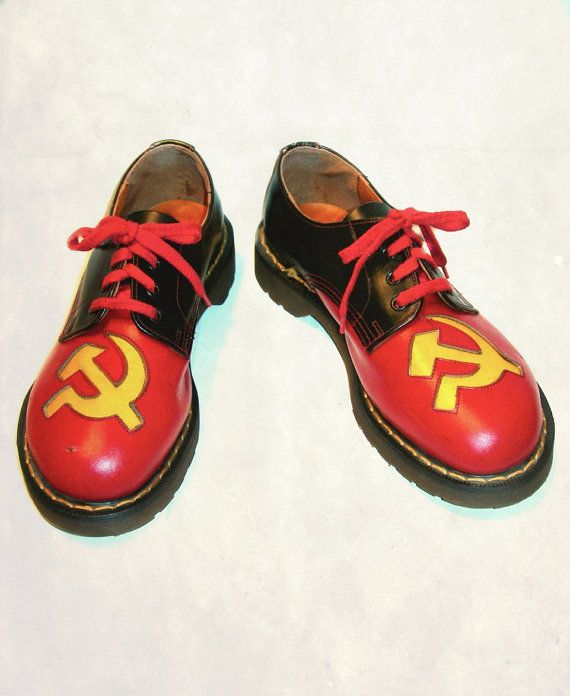 competitive price 8229b 4d2ef Slashed 50.00 Very Rare Vintage Doc Martens Nana Hammer and Sickle -- UK  size 5  US size 7 to 7.5 Womens on Etsy, 180.00