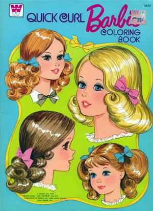 Quick Curl Barbie Coloring Book