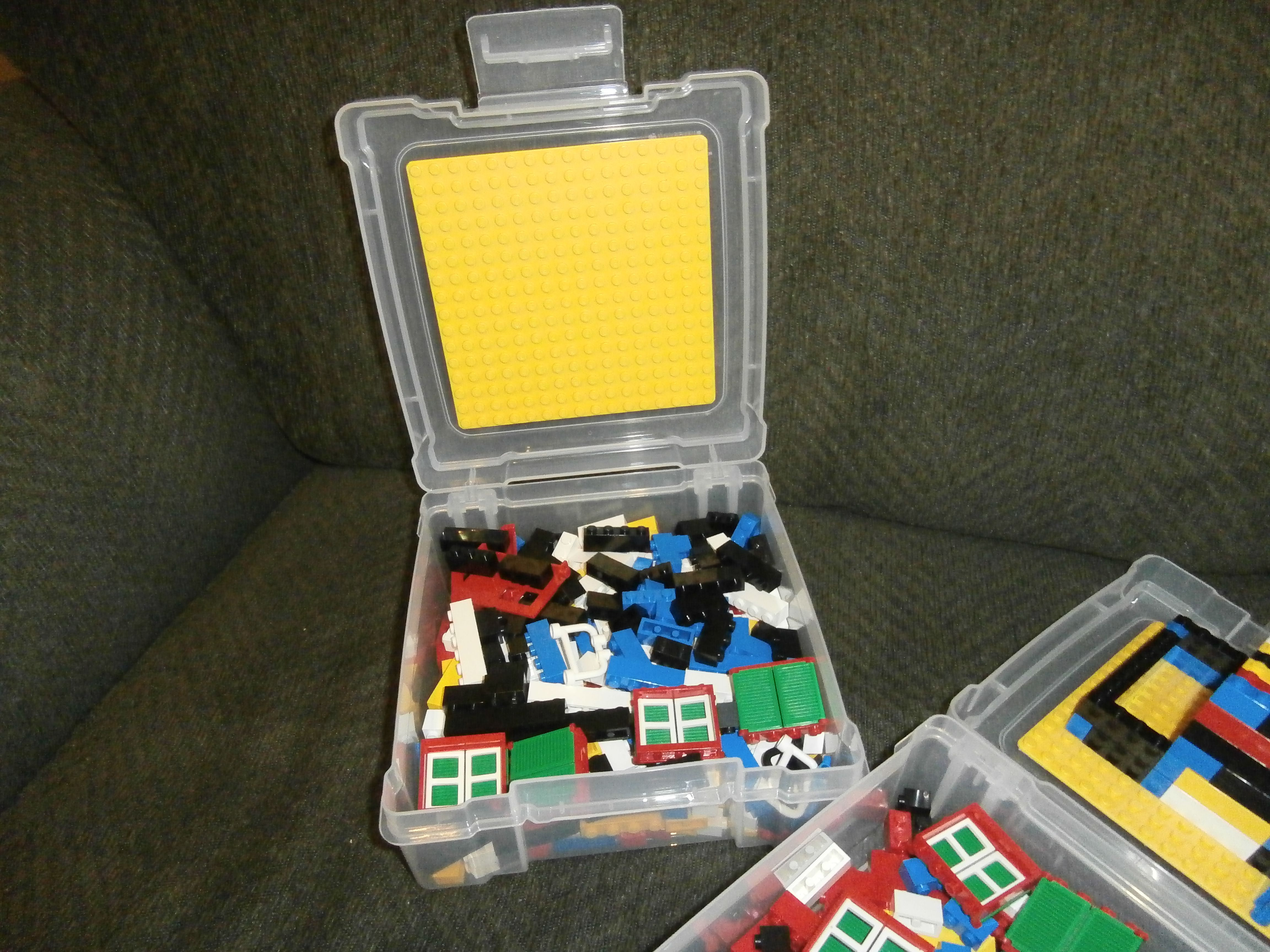 I stuck the square lego plate on the inside lid & Travel Legos for my boys. I stuck the square lego plate on the ...