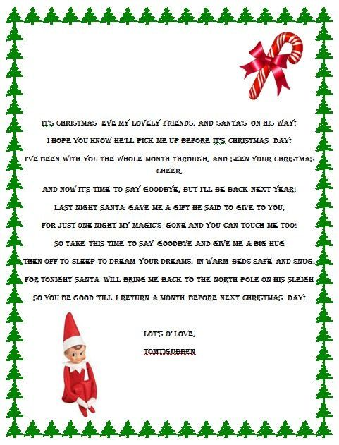 photograph regarding Printable Elf on the Shelf Goodbye Letter identify Elf Upon the Shelf Poem Elf upon the Shelf Goodbye Poem