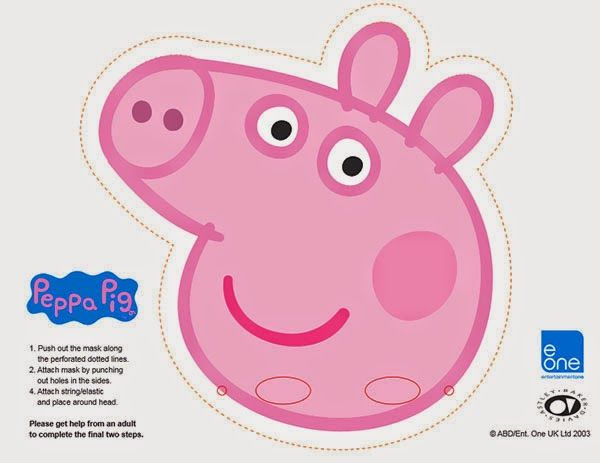 INVITATIONS FOR SLEEPOVER PARTY PEPPA PIG PARTY INVITATION and - free printable face masks