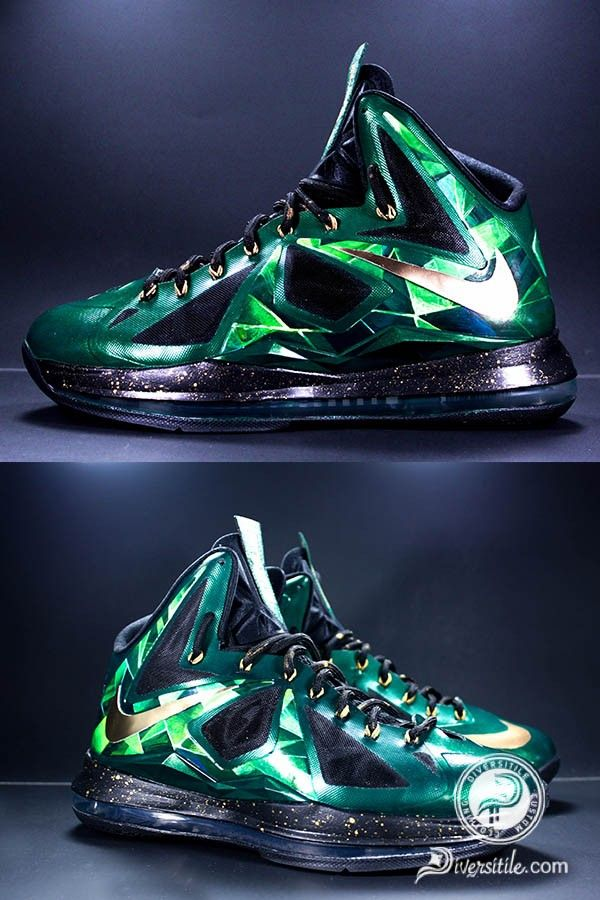 Emerald LeBron X's - Diversitile | shoes | Pinterest ...