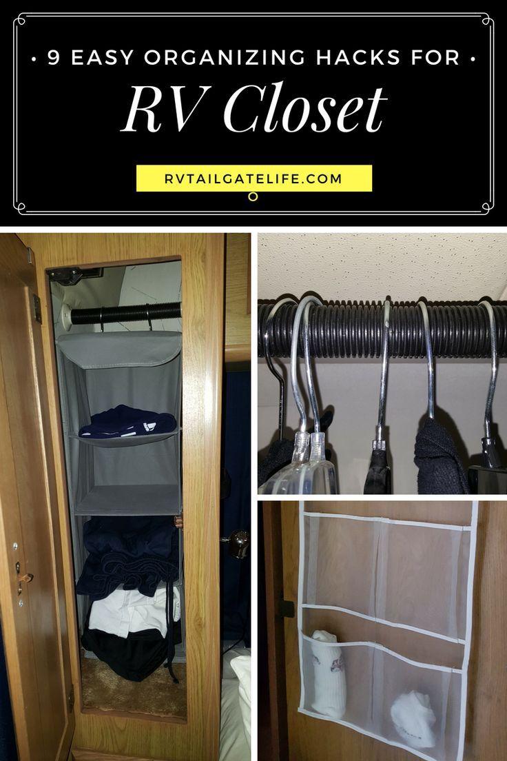 9 Easy RV Closet Organization Hacks   Rv organization ...