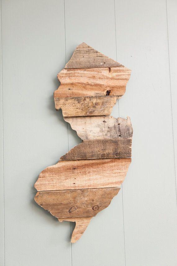 New Jersey Pallet Wood Wall Art by CoastalCreationsNJ on ...
