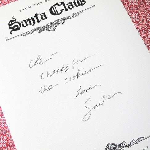 Have Santa leave a letter for the kids on Christmas morning.