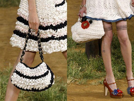 1fe67a99b15b Sacs Chanel en crochet Big Fashion, French Fashion, Summer Months, Cotton  Silk,