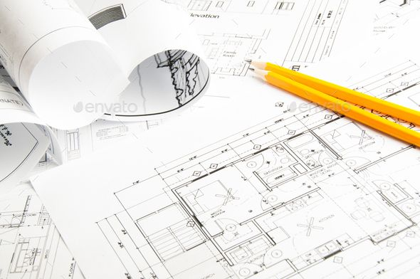 Construction Planning Drawings Stock Photos Portfolio Template Design Plan Drawing
