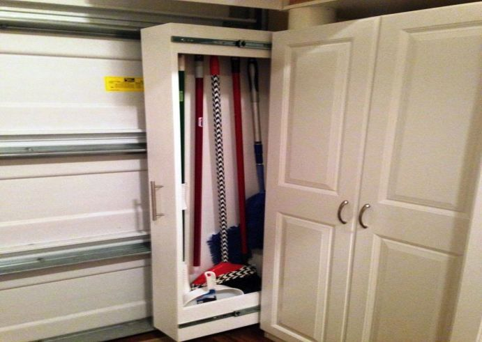 Nice Storage: Broom Closets: Tips To Keep Cleaners And Cleaning Supplies  Well Organized Pull Out Closets For Storing Brooms Vertical Brooms Closet  Corner Broom ...