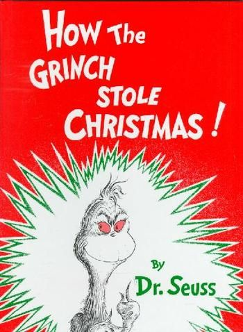 Book and Activity Advent Day 8:  read How The Grinch Stole Christmas and make miniature tinsel trees
