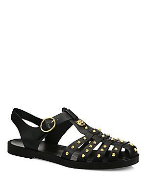 b88e7eea8 Gucci Studded Fisherman Sandals   Mandals in 2019   Sandals, Rubber ...