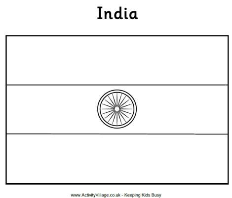 india flag coloring page c1 w8 - Flags World Coloring Pages