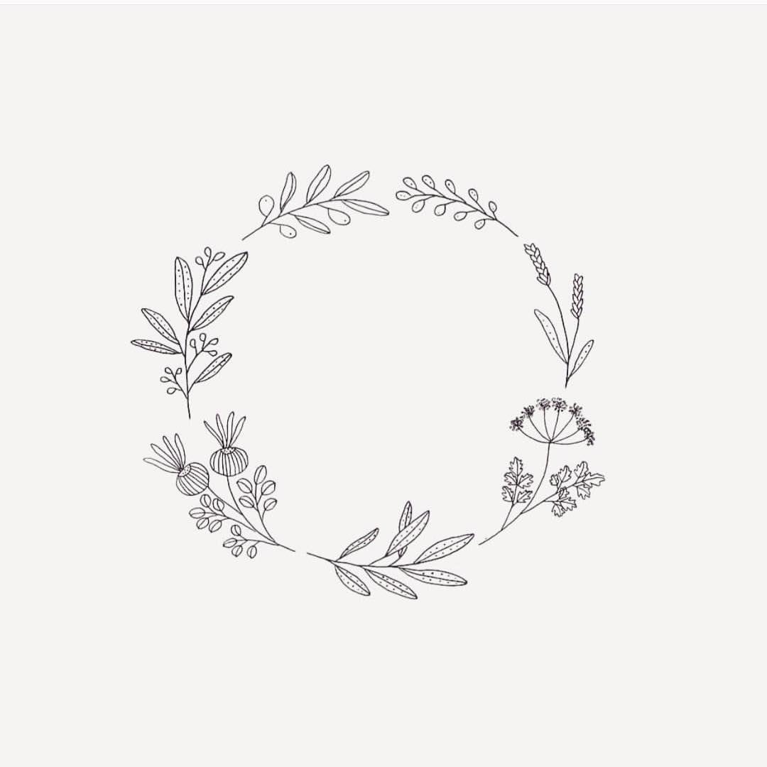 """Photo of Ryn Frank on Instagram: """"A Small Botanical Wreath # Drawing #Design #illustration #sketch #botanical #plants #sketchbook #doodle"""""""
