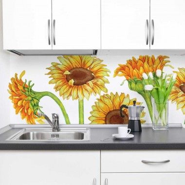 Our Sunflower Watercolor Wall Decal Kit is perfect for any room, Nursery or Dorm. The Kit includes 6 Large Sunflowers with 8 Stems pieces. Our Watercolor Decal Collection is made up of images taken from our genuine Watercolor Illustrations.