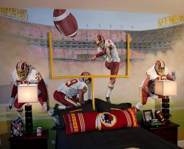 Great Football Kids Bedroom Murals Inspirations