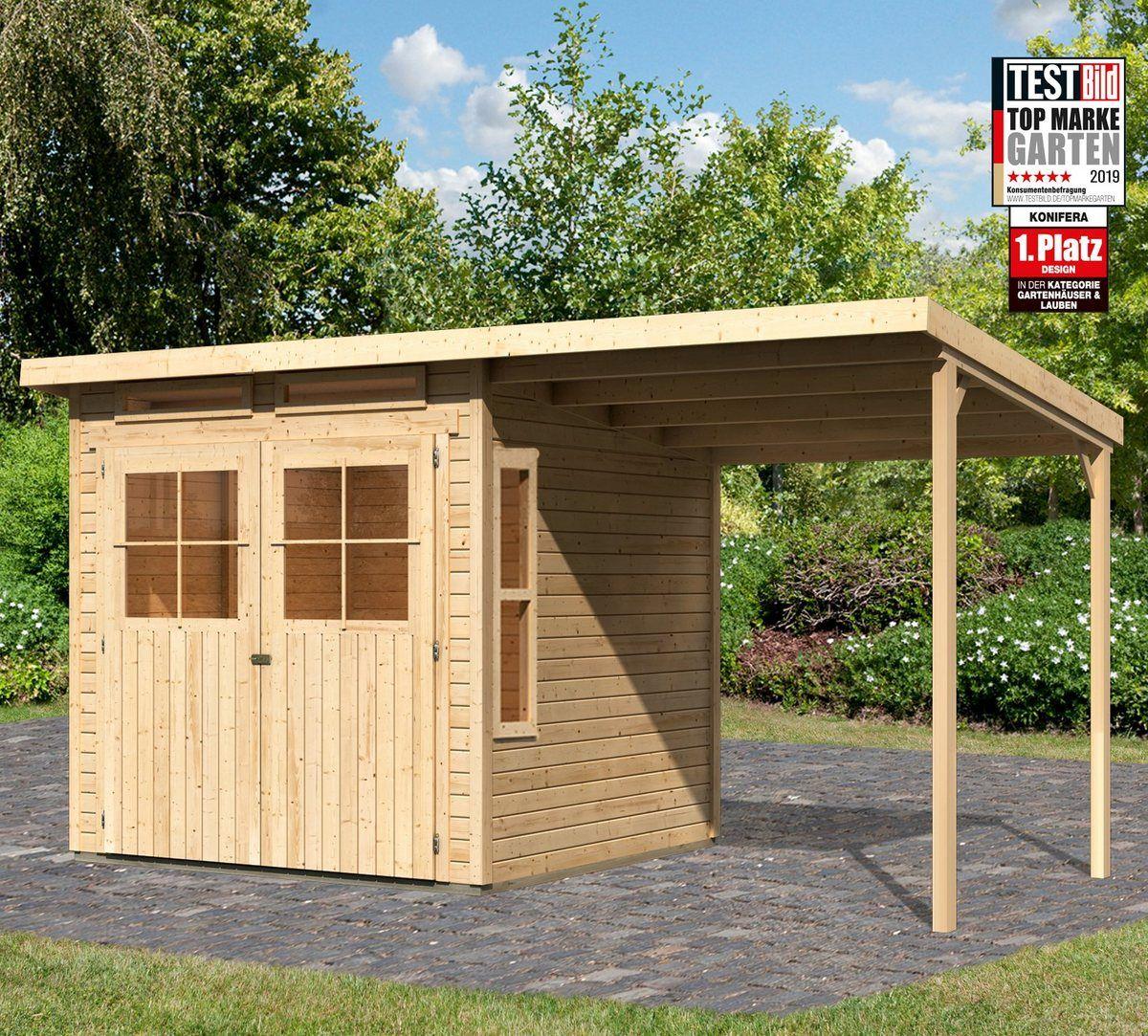 Konifera Gartenhaus Falkensee 3 Bxt 415x236 Cm Set Online Kaufen Otto Gartenhaus Karibu Gartenhaus Gartenhaus Pultdach