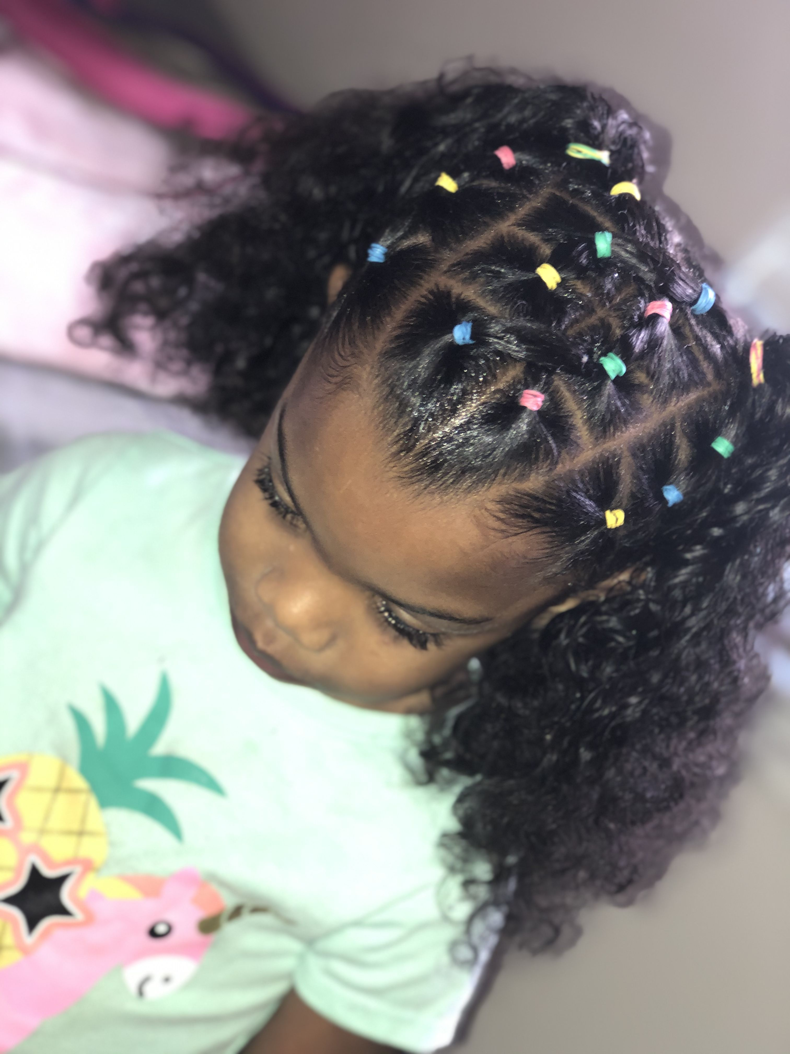 Little Girls Protective Hairstyle Hair Styles Rubber Band Hairstyles Lil Girl Hairstyles