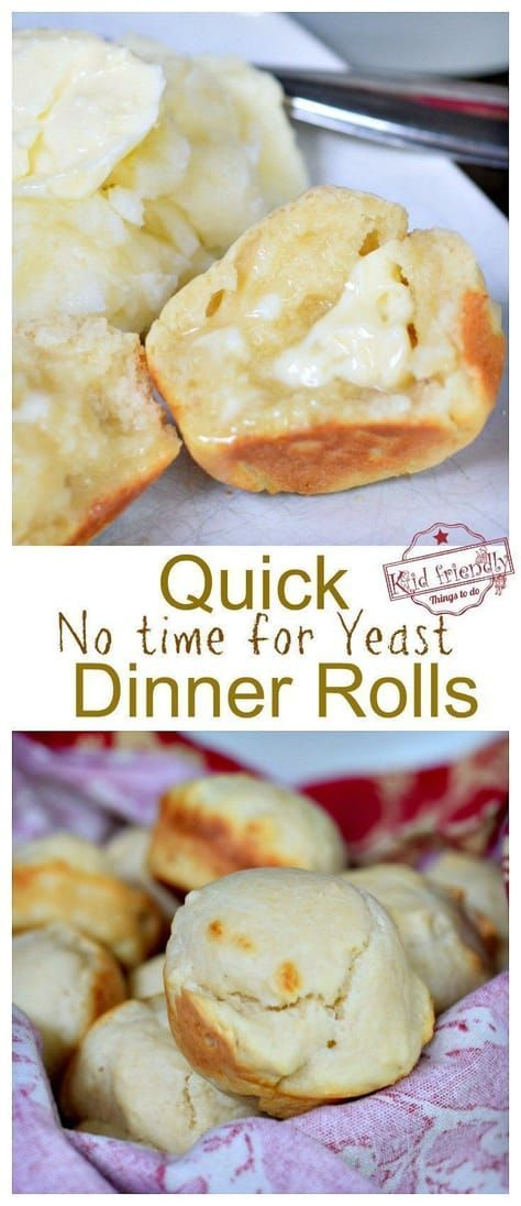 No Time For Yeast Dinner Rolls images