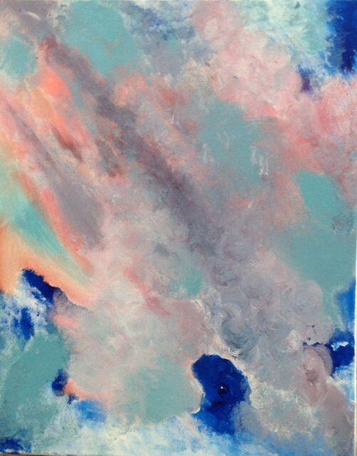 Abstract acrylic expressionism Near Extinction 16 x by JOYdaARTE, $125.00