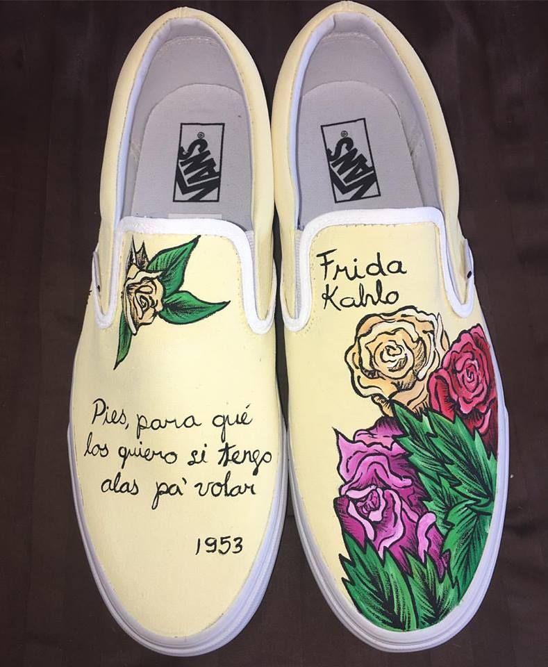 Kv Art custom hand painted Frida Kahlo quote