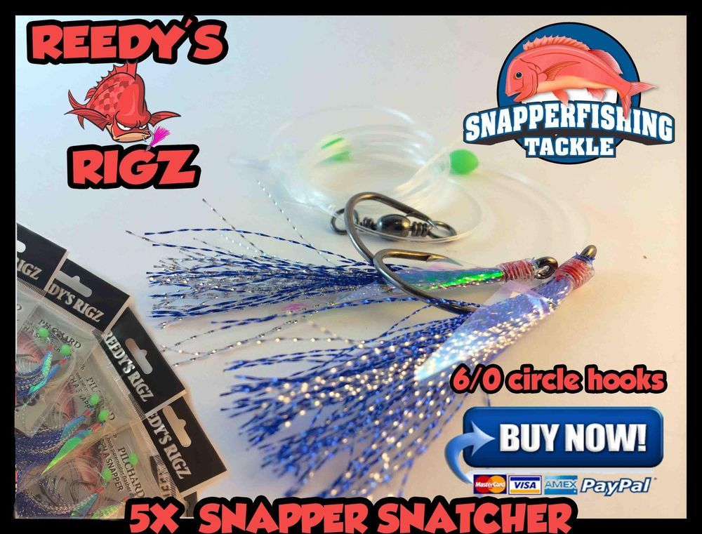 4x Snapper Flasher Surf Rig Tied Paternoster Size Circle Hook
