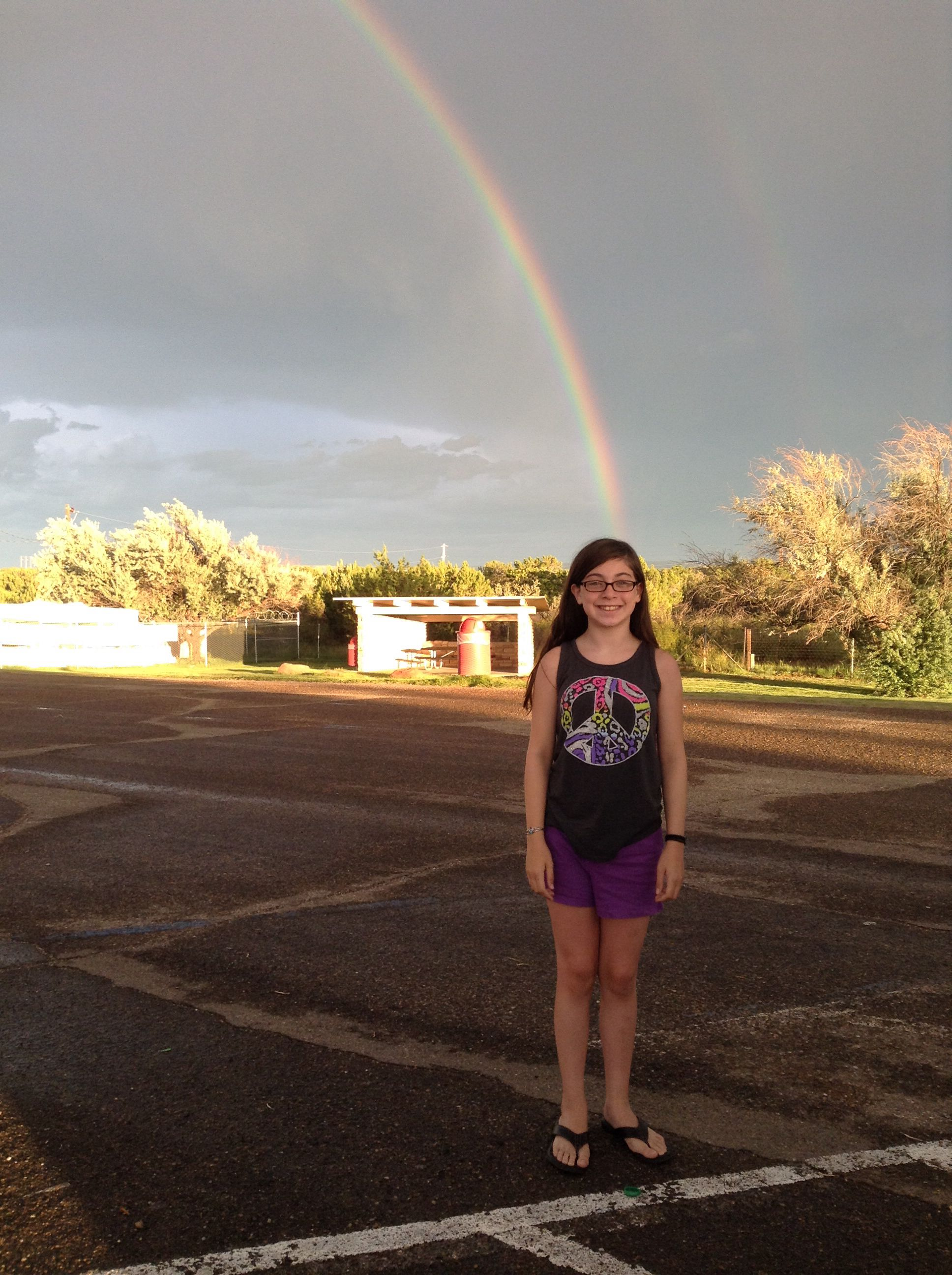 Me at a double rainbow