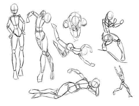 La Estructura Es Una Manera Sencilla De Comenzar A Dibujar Un Personaje A Las Estructuras Tambien Drawing Body Poses Anime Poses Drawings