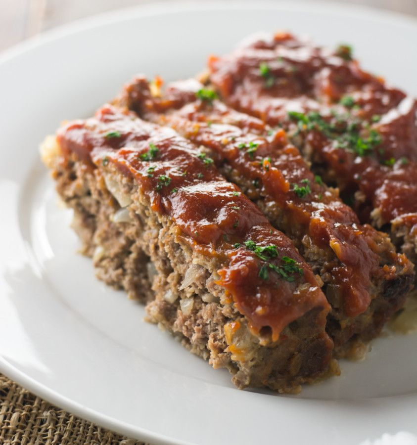 An Old Fashioned Meat Loaf Just Like You Remember Leftovers Make Great Sandwiches The Next Day Meatloaf Seasoning Food Seasoning Recipes