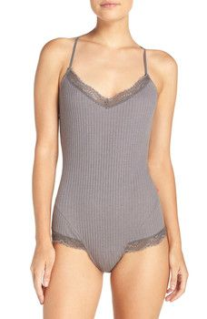 Josie - Lace Trim Knit Teddy