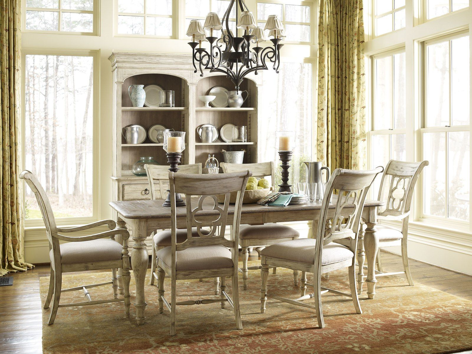 Kincaid Weatherford Canterbury Rectangular Dining Table Set In Cornsilk Finish By Dining Rooms Outlet Dining Room Furniture Formal Dining Room Sets Kincaid Furniture