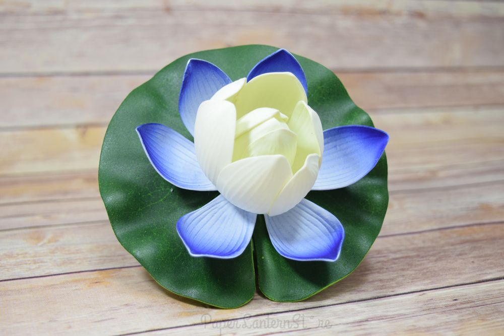 For a perfect memorial day decoration, paired our white floating lotus flower with our blue ones!