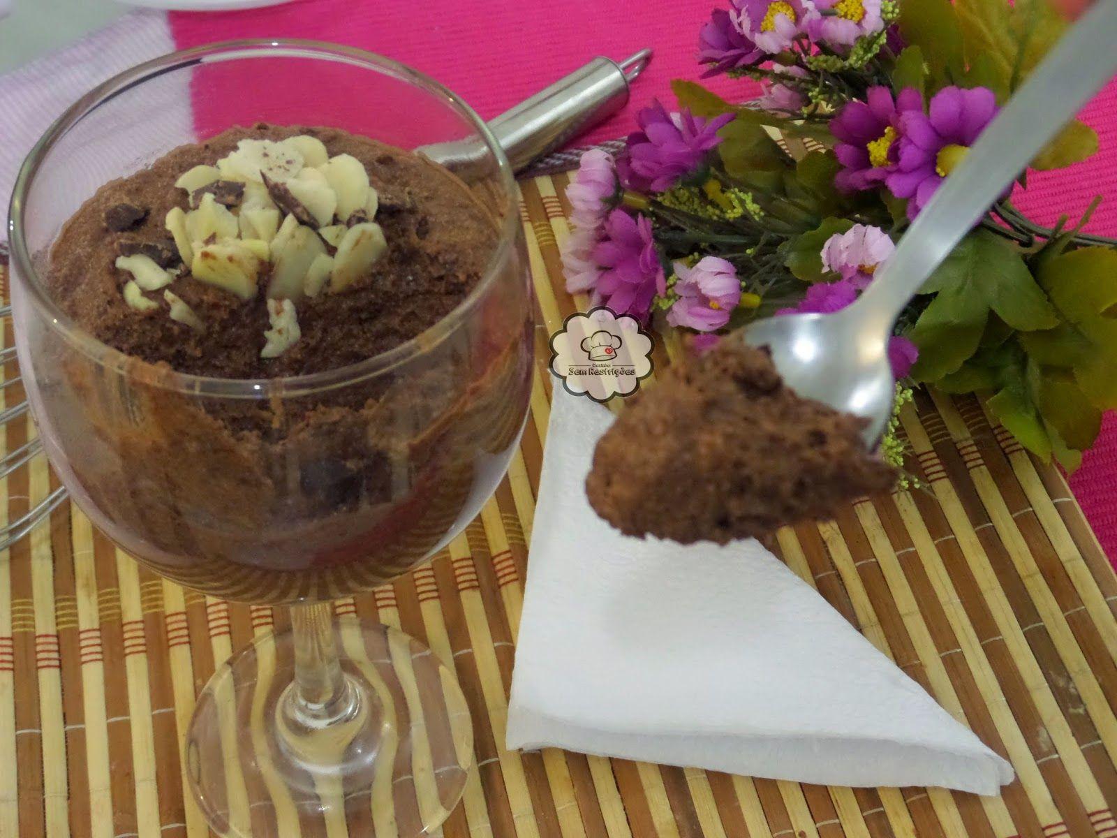 Mousse De Chocolate De Biomassa Sem Gluten Sem Lactose Mousse