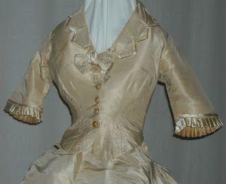 Late 1860's Wedding Dress