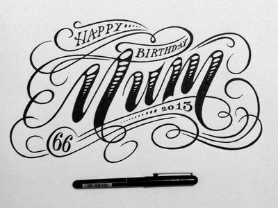 Birthday card for mum calligraphy fonts calligraphy and fonts birthday card for mum bookmarktalkfo Choice Image
