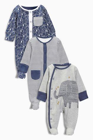 8ddb3ecfaf3ac0 Kaufen Sie Pyjama-Sets mit Elefantenmuster, Dreierpack (0-2 Jahre ...