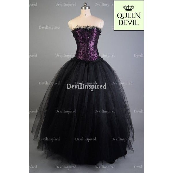 Purple and Black Romantic Gothic Corset Prom Dress - DevilInspired ...