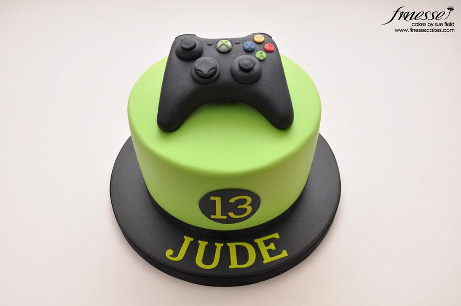XBox Controller Cake Cake by Sue Field Adams 9th Birthday