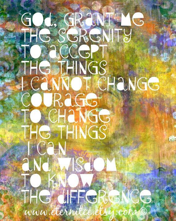 Serenity Prayer 8x10 Art Print home decor desk decor wall decor ...
