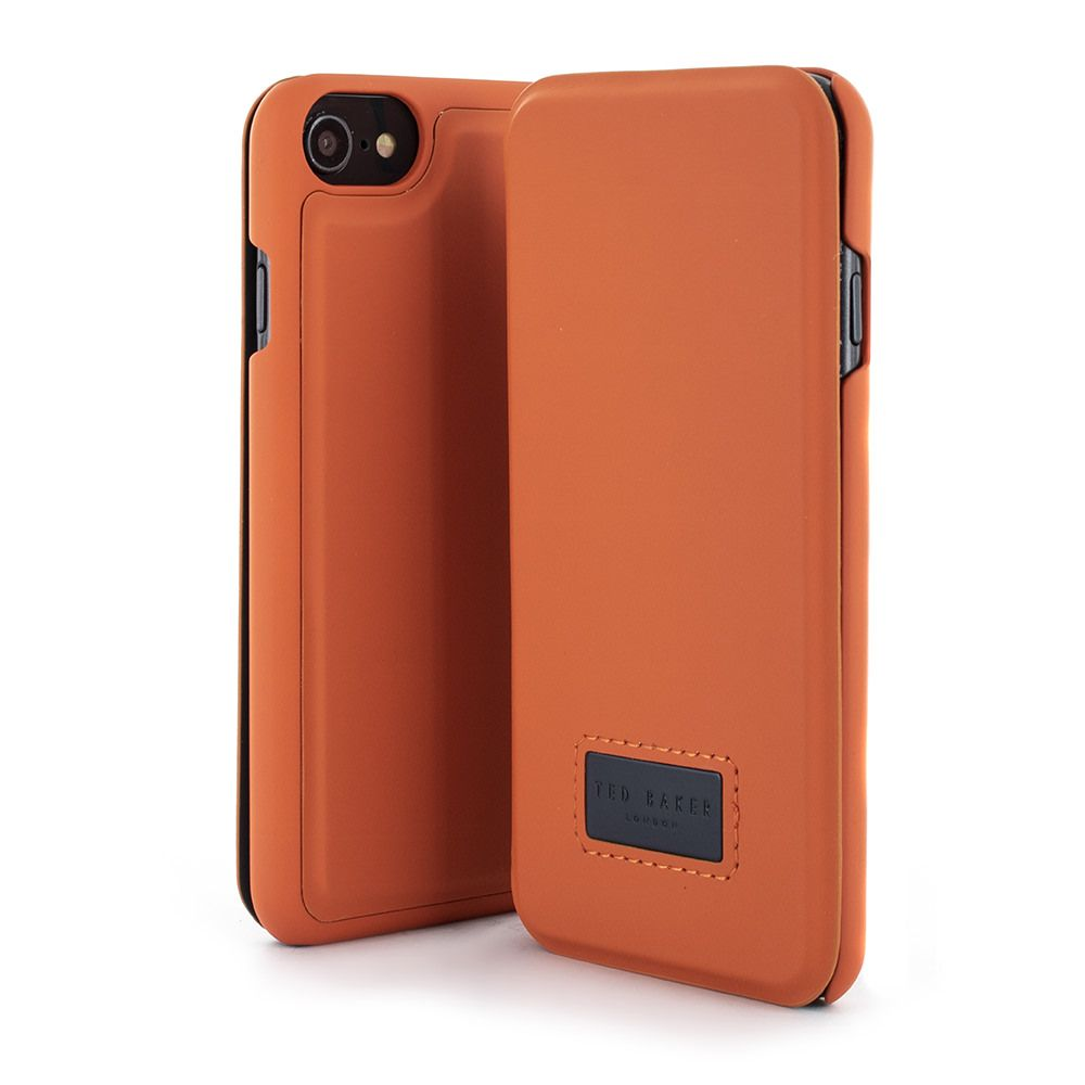 6b77c37d2 Ted Baker Tettra card slot phone case for iPhone 6 7 8 in Orange. Available  at Proporta.co.uk