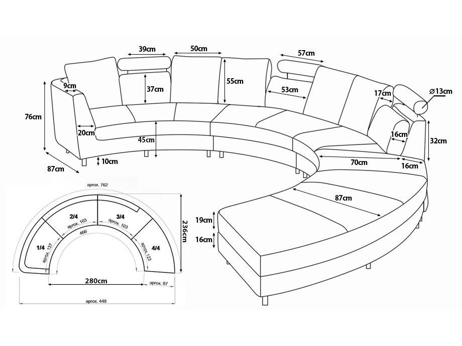 ledersofa rundes sofa ledercouch couch aus leder in. Black Bedroom Furniture Sets. Home Design Ideas