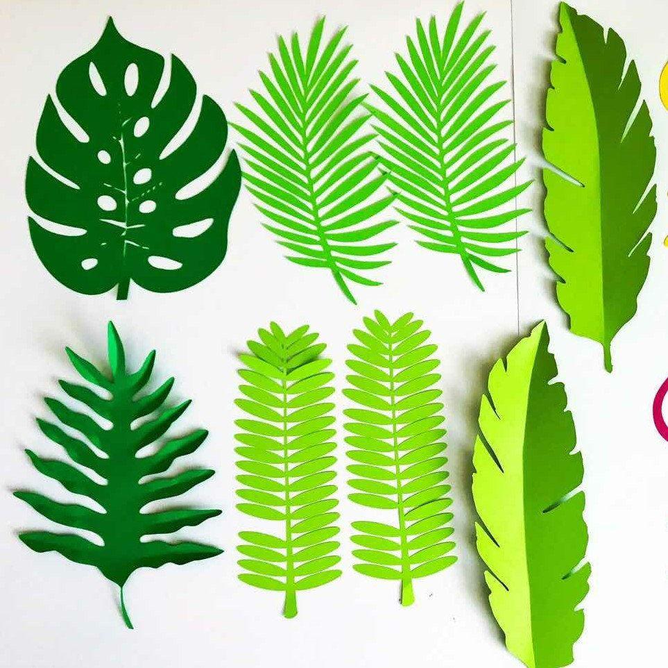 paper flowers -svg digital leaf - template  9