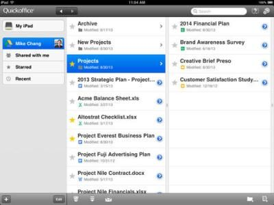 Google releases free Quickoffice app for iPad details