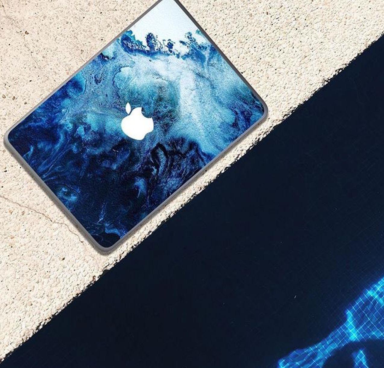 Blue design high quality hard case for Macbook