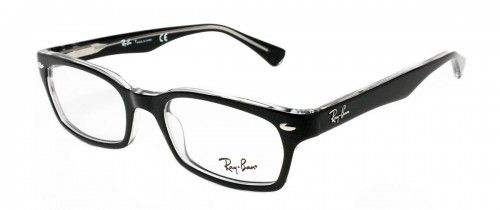 e3ee88129d44 Ray Ban RB5150 Black On Transparent Frame 50mm for  140.00! Find more great  deals on prescription Ray-Ban frames at LensDirect!  glasses