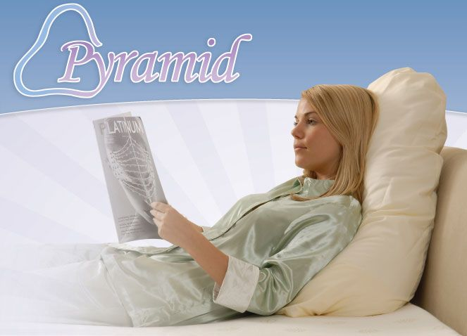Pyramid Upper Body Pillow Support Pillow Lower Back Support When Reading Watching Tv Or Sitting Up In Bed Or A Chai Support Pillows Bed Support Body Pillow
