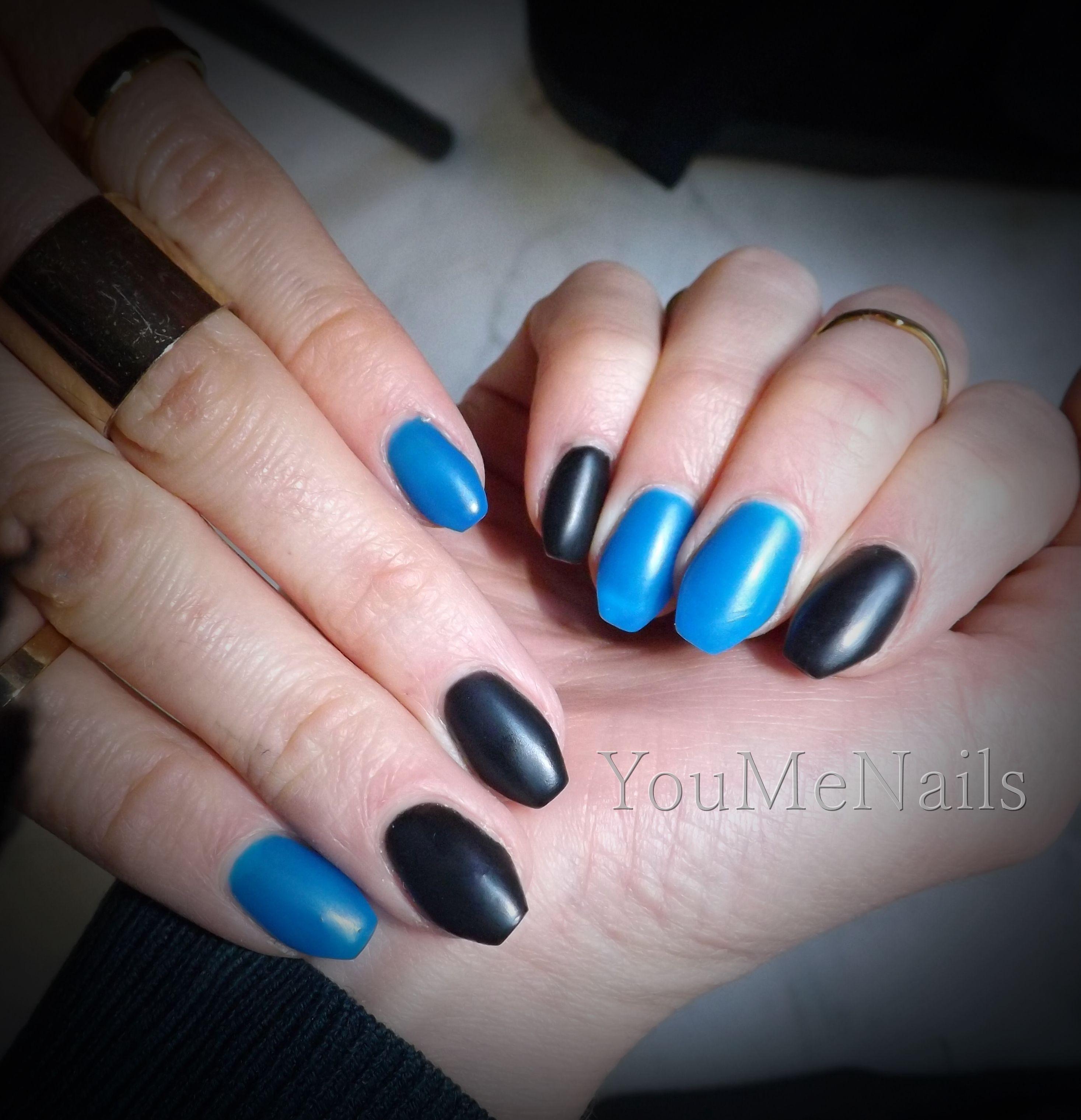Matte Mattenails Nails Nail Bleu Bluenails Blue Manucure