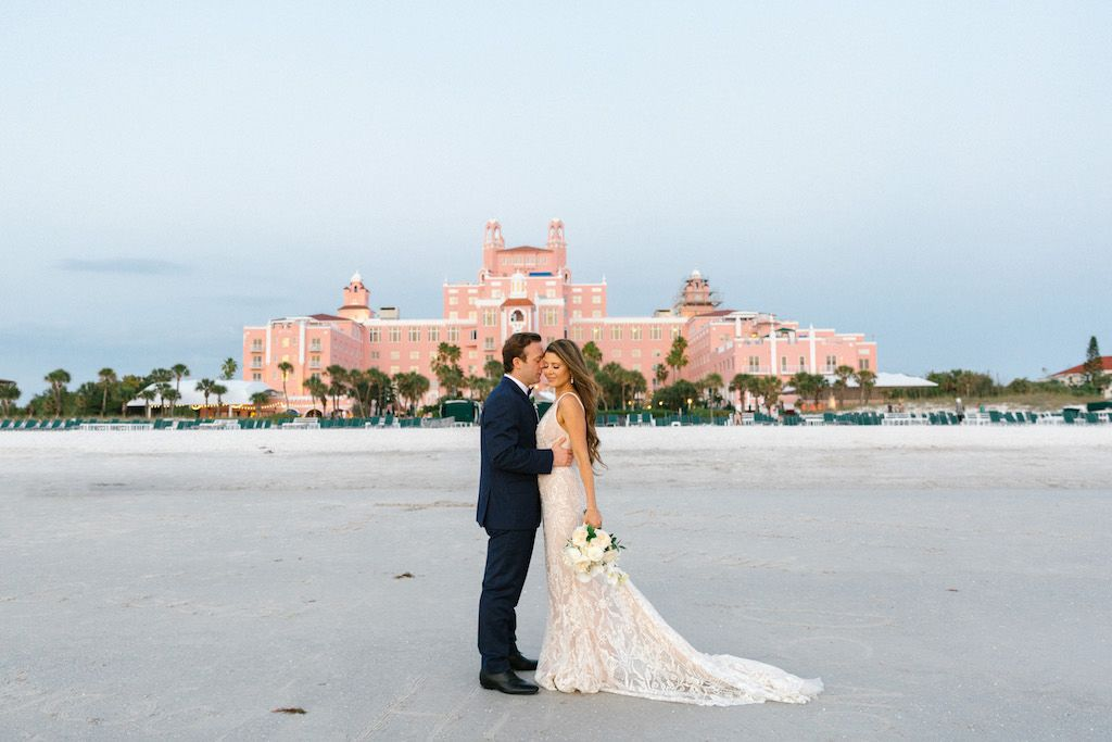 Modern tropical st pete beach destination wedding