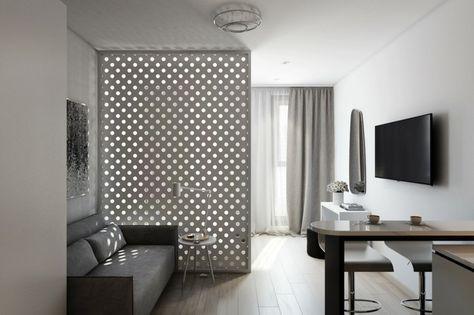 Déco studio et petit appartement  4 exemples remarquables Studio